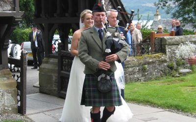 Where did the day go? A Scottish wedding piper's wedding day